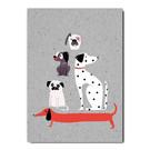 fzgc048 |  Gray-Code | Dog pyramide - postcard