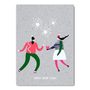 fzgc050 |  Gray-Code | Happy New Year - Postkarte  A6