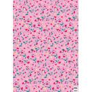 cc744 | crissXcross | Pink Flower Meadow - Geschenkpapier