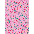 cc744 | crissXcross | Pink flower meadow - wrapping paper