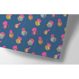 cc747 | crissXcross | Jellyfish - wrapping paper sheet 50 x 70 cm