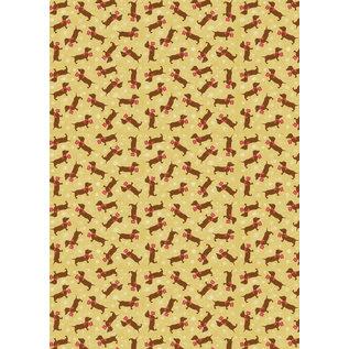 mi702 | m-illu | Dachshund - wrapping paper sheet 50 x 70 cm