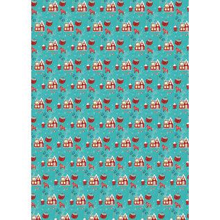 mi703   m-illu   North - wrapping paper sheet 50 x 70 cm