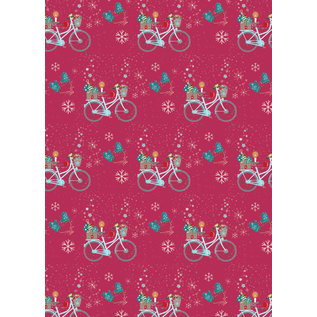 mi704 | m-illu | Bicycle - wrapping paper Bogen 50 x 70 cm