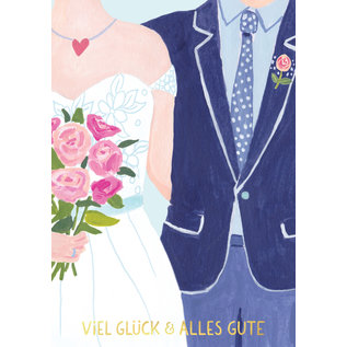 ar301 | Anke Rega | Hochzeit Paar - Klappkarte C6