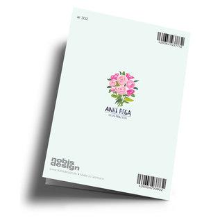 Anke Rega ar302 | Anke Rega | Hochzeit Mädels - Klappkarte C6
