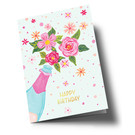 ar304 | Anke Rega | Champagner Happy Birthday - double card