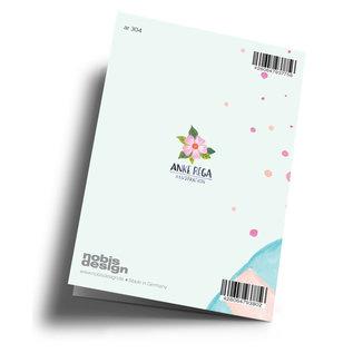 ar304 | Anke Rega | Champagner Happy Birthday - double card C6