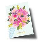 Anke Rega ar305 | Anke Rega | Blumen Alles Liebe - Klappkarte