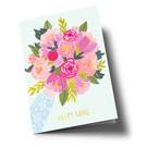 Anke Rega ar305 | Anke Rega | Flowers Alles Liebe - double card