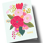 ar306 | Anke Rega | Flowers Danke - double card C6