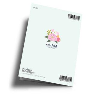 Anke Rega ar306 | Anke Rega | Blumen Danke - Klappkarte C6