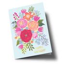 ar307 | Anke Rega | Blumen Happy Birthday - Klappkarte