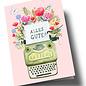 ar308 | Anke Rega | Schreibmaschine Alles Gute - Klappkarte  C6