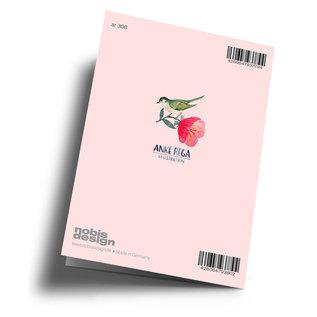 Anke Rega ar308 | Anke Rega | Schreibmaschine Alles Gute - Klappkarte  C6