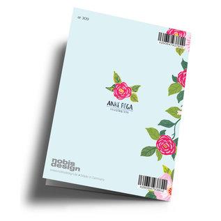 ar309 | Anke Rega | Für mich bist du die Welt - Klappkarte  C6
