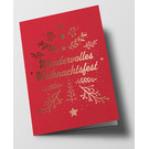 pu107 | Pure | Wundervolles Weihnachtsfest, red - double card