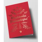 pu107 | Pure | Wundervolles Weihnachtsfest, rot - Klappkarte