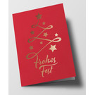 pu108 | Pure | Abstract christmas tree, red - double card