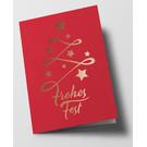 pu108 | Pure | Abstrakter Weihnachtsbaum, rot - Klappkarte