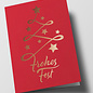 pu108 | Pure | Abstract christmas tree, red - double card C6