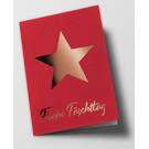 pus008 | Pure | Star Fäschttäg, red - doublecard