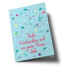 lucky cards lc301 | lucky cards | gifts + gimmicks Frohe Weihnachten hellblau- Klappkarte