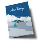 lc302 | lucky cards | winter landscape Schöne Feiertage - double card
