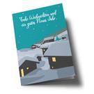 lc303 | lucky cards | Winterlandschaft Dorf Frohe Weihnachten - Klappkarte