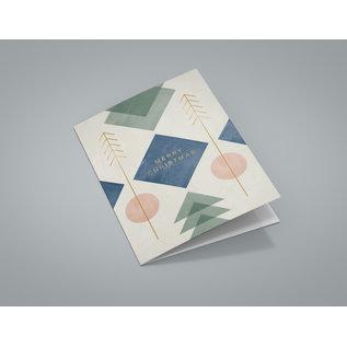 dfx401 | Designfräulein | Blue Square - Klappkarte C6