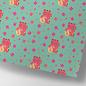 ha711 | happiness | waving cat - wrapping paper Bogen 50 x 70 cm