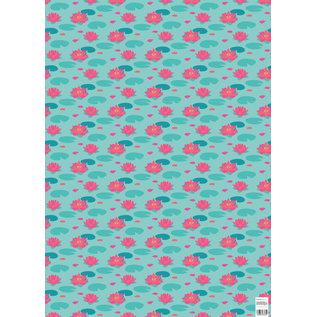 ha713 | happiness | Lotusblüte - Geschenkpapier Bogen 50 x 70 cm