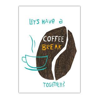 fzde002 |  Delicious | Coffeebeans - postcard A6
