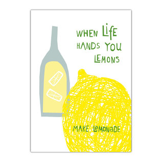 fzde003 |  Delicious | Lemons - postcard A6