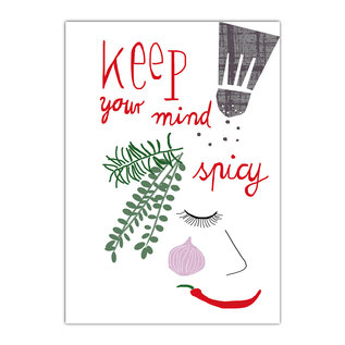 fzde004 |  Delicious | Keep your mind spicy - postcard A6