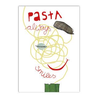 fzde006 |  Delicious | Pasta always smiles - postcard A6