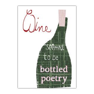 fzde011 |  Delicious | Wine/Poetry - postcard A6