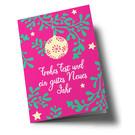 lc306 | lucky cards | Mistelzweige - Klappkarte