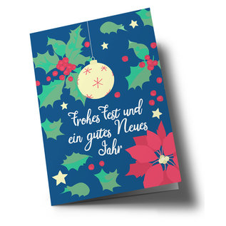 lc307 | lucky cards | Weihnachtsstern - double card C6