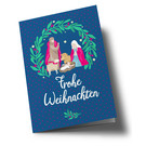 lc308 | lucky cards | Weihnachtskrippe - double card