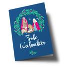 lucky cards lc308 | lucky cards | Weihnachtskrippe - Klappkarte
