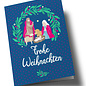 lc308 | lucky cards | Weihnachtskrippe - double card C6