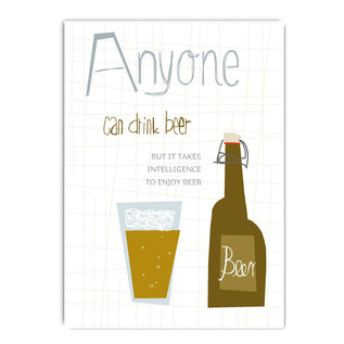 fzde013 |  Delicious | Anyone can drink beer - Postkarte A6