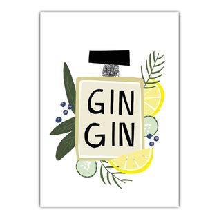 fzde025 |  Delicious | Gin Gin - postcard A6