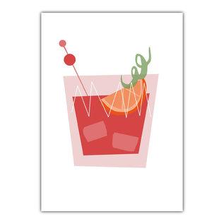 fzde026 |  Delicious | Cocktail - postcard A6