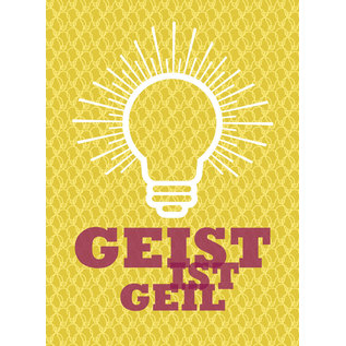 fzsw019 | Style For A While | Geist ist geil - Holzschliffpappe A6