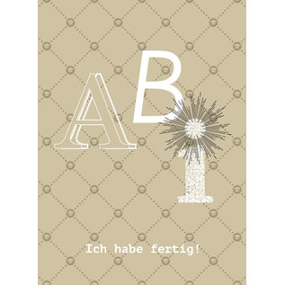 fzsw020 | Style For A While | Abi - Ich habe fertig - Holzschliffpappe A6