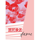 fzsw030 | Style For A While | Herzdame - Holzschliffpappe