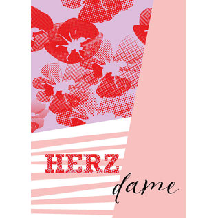 fzsw030 | Style For A While | Herzdame - Holzschliffpappe  A6