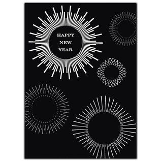 fzsw033 | Style For A While | Happy new year - wood pulp cardboard  A6